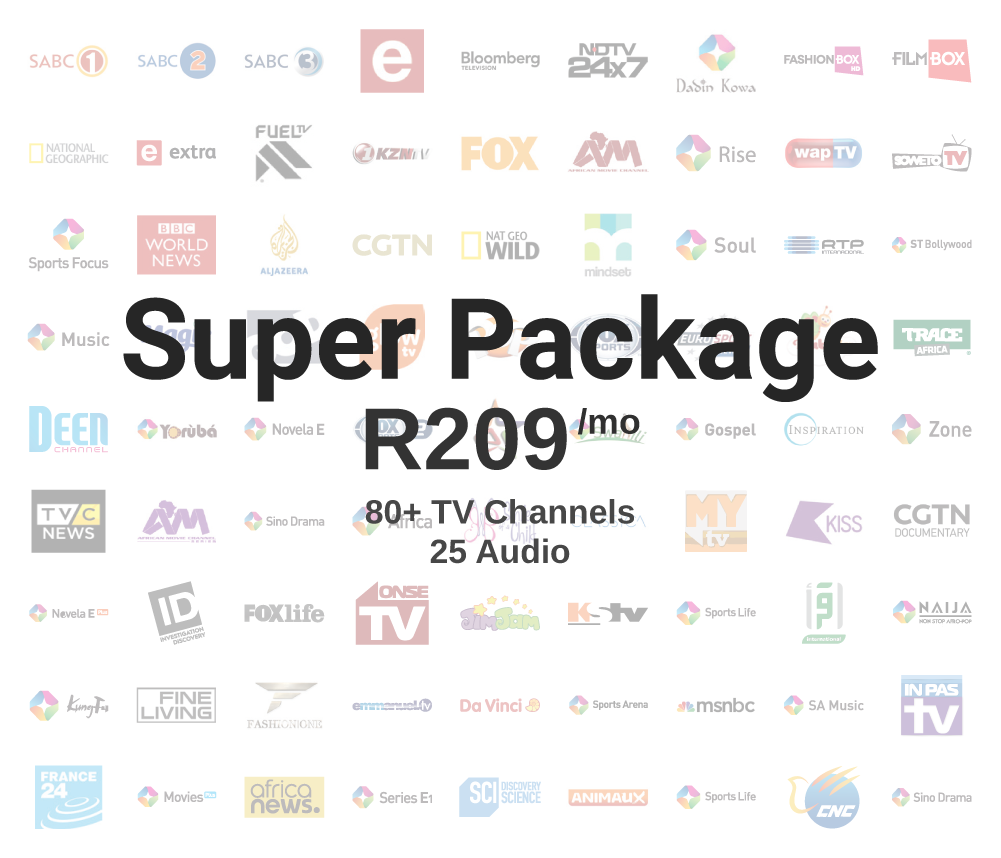 Super Package: R209/mo