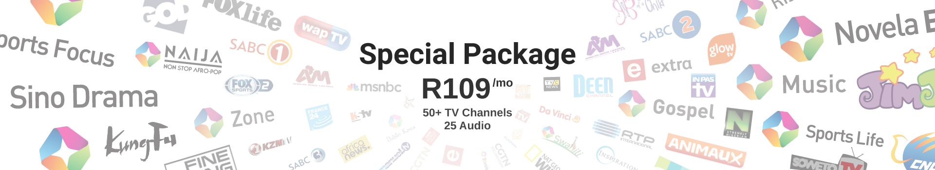 Special Package: R109/mo