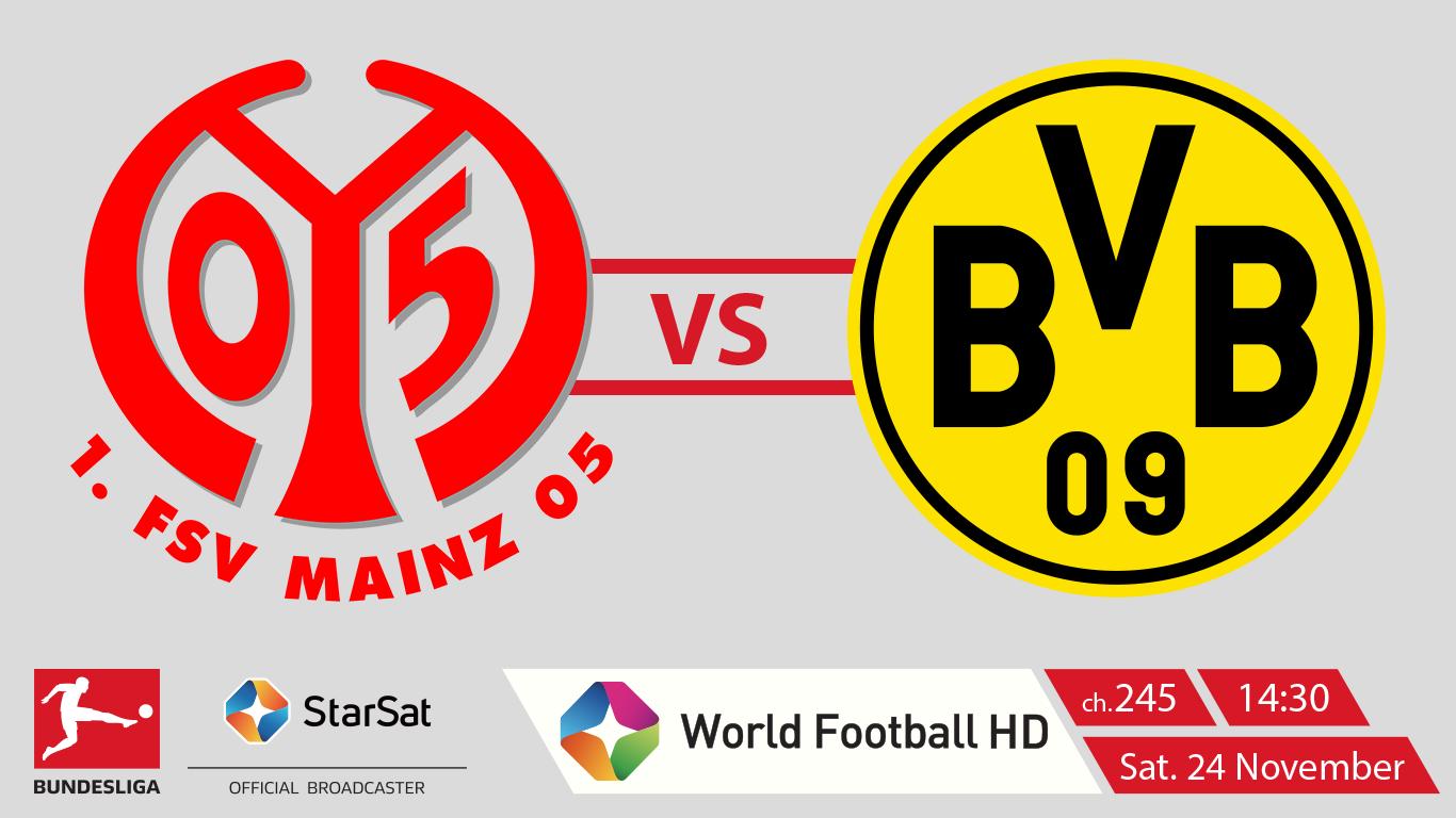 1 FSV Mainz 05 vs Borussia Dartmund Budesliga on StarSat