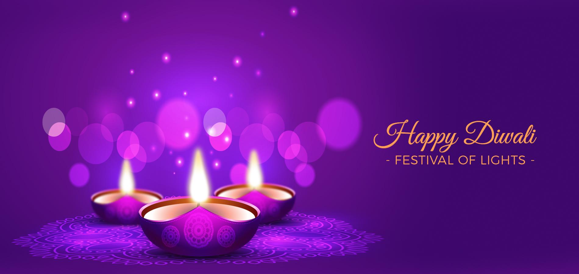 Happy Diwali Festival of Lights Web Banner