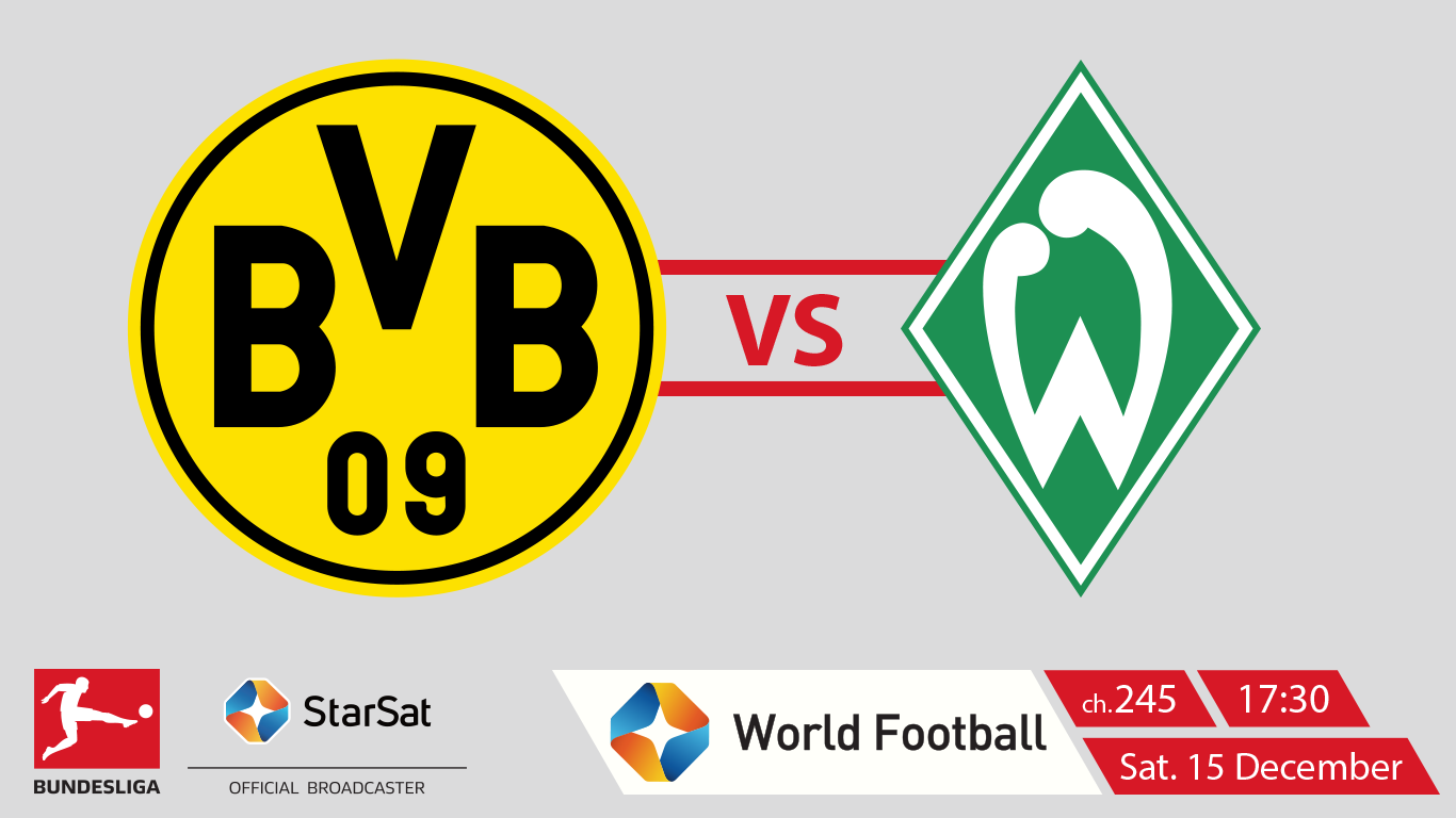 Bundesliga Borussia Dortmund vs SV Werder Bremen on ST World Football on StarSat