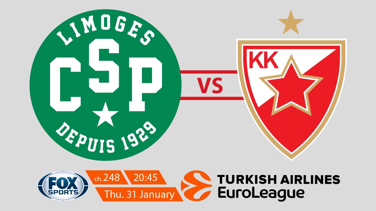 EuroLeague Limoges CSP vs Crvena Zvezda MTS Belgrade on FOX Sports on StarSat