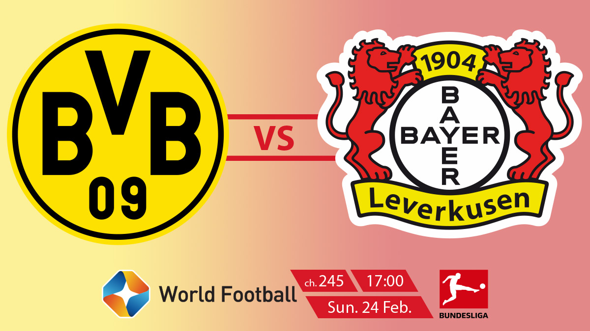 Bundesliga (MD23) Borussia Dortmund vs Bayer 04 Leverkusen on StarSat