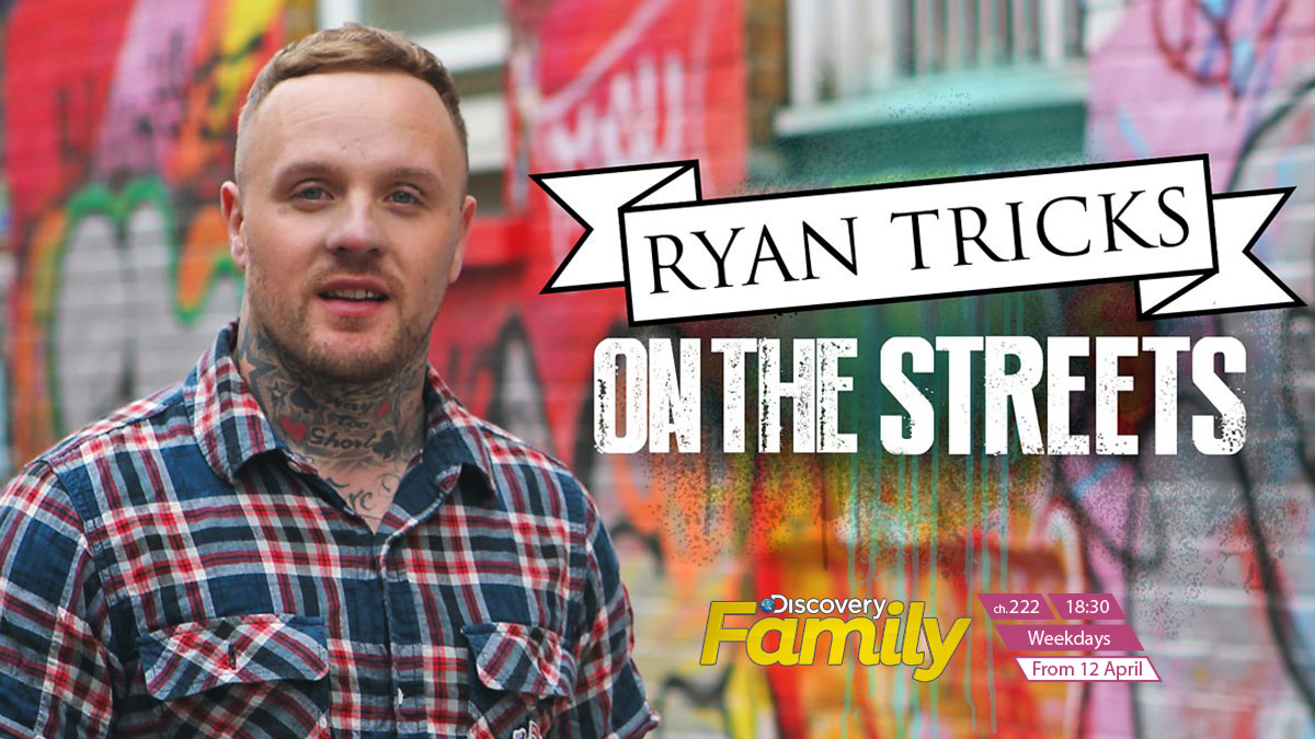 On the streets with Ryan Tricks on Discovery Family on StarSat