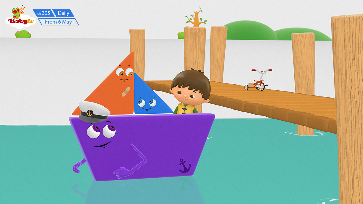 Charlie and the Shapes on BabyTV on StarSat