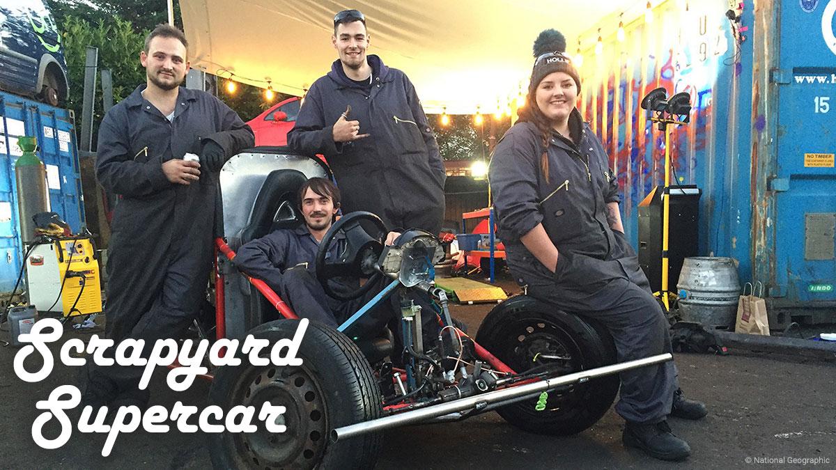 Scrapyard Supercar on National Geographic on StarSat