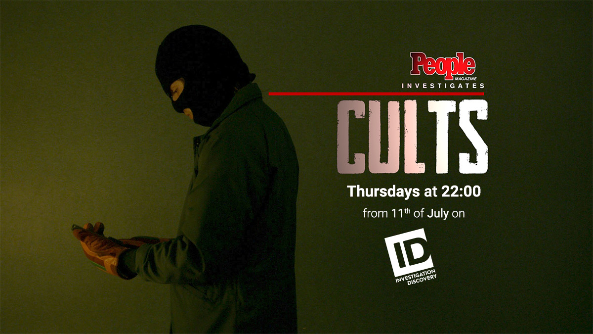 People Magazine Investigates Cults on Investigation Discovery on StarSat promo banner
