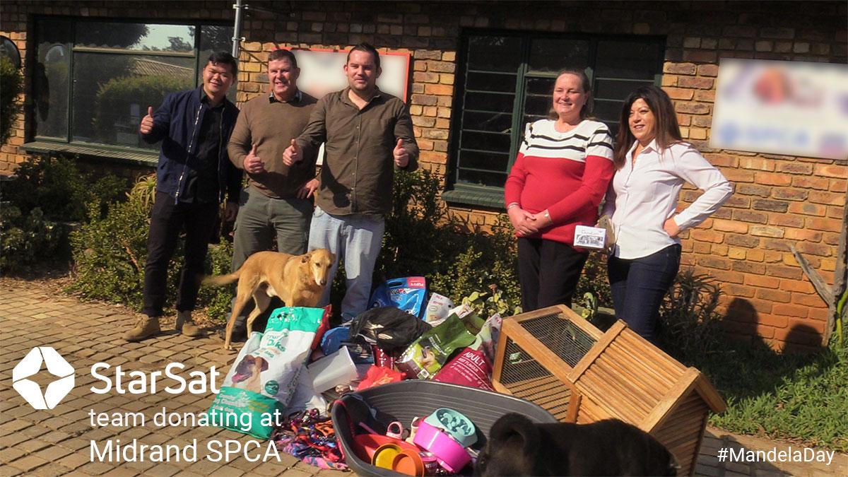 StarSat Team Group Photo at Midrand SPCA