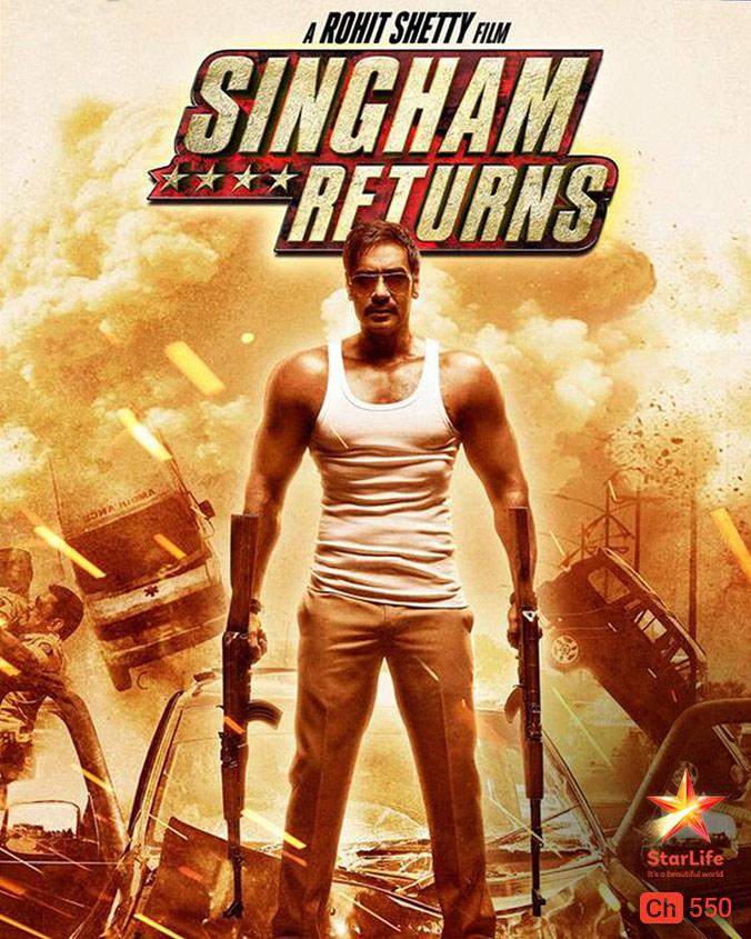 Singham Returns on StarLife on StarSat (mobile)