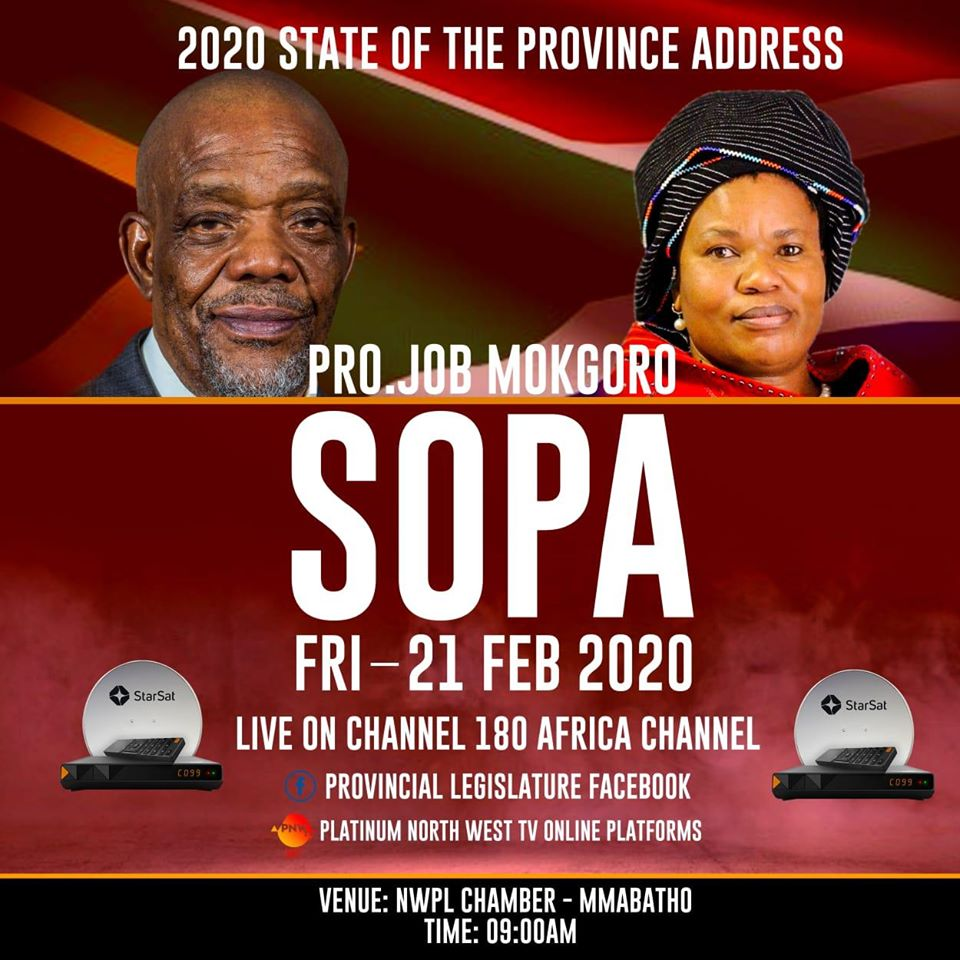 State of the province Address (SOPA) North West