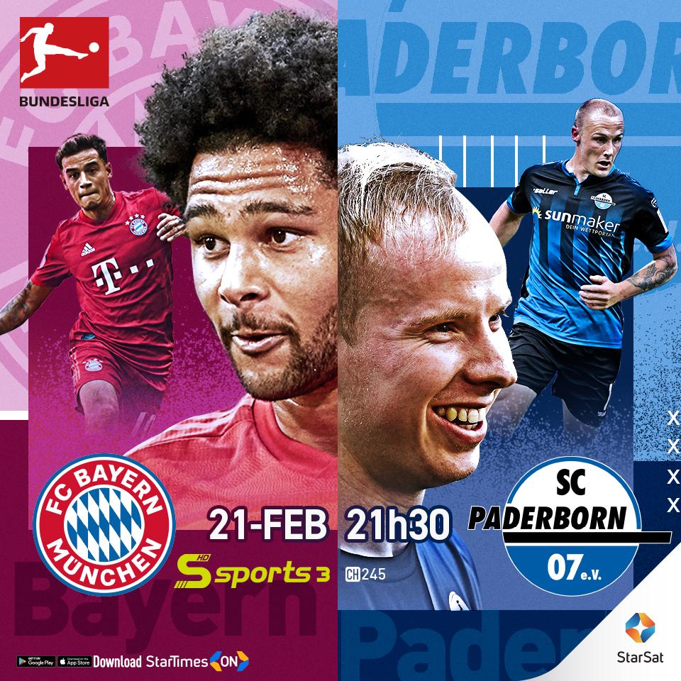 Bundesliga: Bayern Munchen vs SC Paderborn